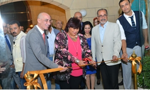 Minister of Culture Inas Abdel Dayem inaugurated on Sept. 18 the second edition of the international Sculpture Salon at Cairo Opera House's Art Palace-Press Photo