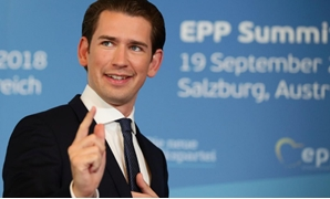 Austrian Chancellor Sebastian Kurz arrives for the European People's Party (EPP) meeting ahead of the informal meeting of EU leaders, in Salzburg, Austria, September 19, 2018. REUTERS/Lisi Niesner