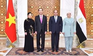 First Lady Enitssar al-Sisi received Monday the wife of Tran Dai Quang, the Vietnamese President – Press Photo