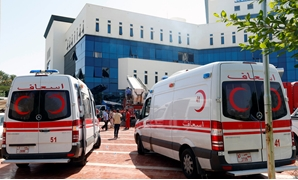 File photo - Ambulances are seen near the headquarters of Libyan state oil firm National Oil Corporation (NOC) after three masked persons attacked it in Tripoli, Libya September 10, 2018. REUTERS/Ismail Zitouny