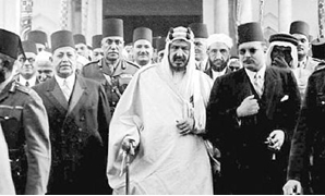 FILE: (L) King Abdulaziz bin Abdulrahman Al Saud, (R) King Farouk during the first Saudi royal visit to Egypt in 1946