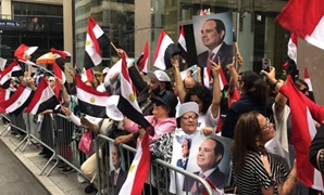 Egyptians welcome Sisi in New York on Sept. 23, 2018 - Egypt Today
