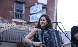 MAIN IMAGE: Youssra el-Hawary performing in Lyons, Nebraska - Photo by Nourhan Magdi