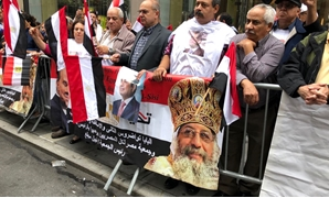 The Egyptian community in USA staged two marches in New York streets on Sunday to support President Abdel Fatah al-Sisi on September 23, 2018 - Press photo