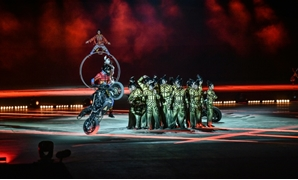 The acrobatic troupe performed in Riyadh to mark the Saudi national day, more than a month after the kingdom expelled Canada's ambassador and froze all new trade following Ottawa's vigorous calls for the release of activists jailed in the Gulf state.
