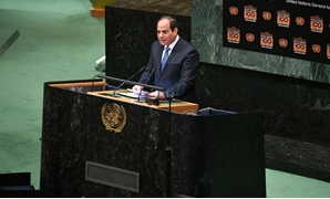 President Abdel Fatah al-Sisi during his speech at the UNGA - Press Photo
