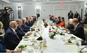 President Abdel Fatah al-Sisi met on Monday evening at his New York residence with members of the Business Council for International Understanding (BCIU) and a number of prominent and influential decision-makers in the United States over a dinner banquet