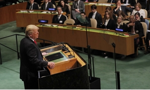 U.S. President Donald Trump addresses the 73rd session of the United Nations General Assembly at U.N. headquarters in New York, U.S., September 25, 2018. REUTERS/Caitlin Ochs