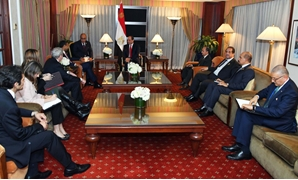 During Sisi's meeting with Head of Boeing International Bertand-Marc Allen - Press Photo
