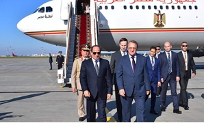 Egyptian President Abdel-Fatah al-Sisi upon his arrival in Moscow. October 15, 2018. Press Photo