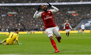 February 10, 2018 Arsenal's Alexandre Lacazette looks dejected after missing a chance to score REUTERS/David Klein