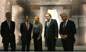 "The inauguration of ""Egypt's Gods"" exhibition at the Rijksmuseum van Oudheden Museum in Leiden, Netherlands – Egypt ministry of foreign affairs via Facebook"