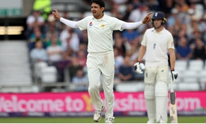 Pakistan's Mohammad Abbas celebrates the wicket of England's Sam Curran Action Images via Reuters/Lee Smith