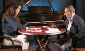 Rahbani during a TV show with Lebanese news anchor Dima Sadek - Egypt Today