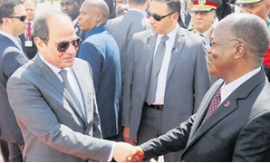President Abdel Fatah al-Sisi with his Tanzanian counterpart John Magufuli during his visit to Dodoma - Press photo