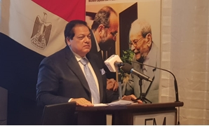 Egyptian businessman  Mohamed Abul-Enein giving the ceremony's speech - Press photo