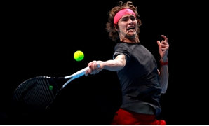 Tennis - ATP Finals - The O2, London, Britain - November 12, 2018 Germany's Alexander Zverev in action during his group stage match against Croatia's Marin Cilic Action Images via Reuters/Andrew Couldridge TPX IMAGES OF THE DAY