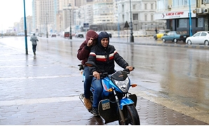 FILE - The bad weather and rainfall wave continue in Egypt's cities for the second day, Alexandria