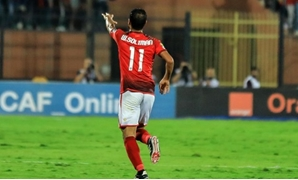 Walid Soliman celebrates scoring against ES Setif - Photo courtesy of FIFA