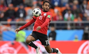 Egypt's midfielder Mahmoud 'Kahraba' Abdel-Moneim controls the ball during the Russia 2018 World Cup Group A football match between Egypt and Uruguay at the Ekaterinburg Arena in Ekaterinburg  - AFP