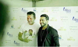 The famed Egyptian singer Tamer Hosny and worldwide acclaimed DJ David Vendetta - Egypt Today.