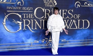 FILE PHOTO: Actor Ezra Miller attends the British premiere of 'Fantastic Beasts: The Crimes of Grindelwald' movie in London, Britain, November 13, 2018. REUTERS/Toby Melville/File Photo