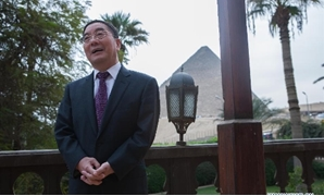 Chinese Ambassador to Egypt Song Aiguo speaks during an interview about the 70th anniversary of the Cairo Declaration in Cairo, capital of Egypt, on Nov.
