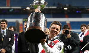Soccer Football - Copa Libertadores Final - Second Leg - River Plate v Boca Juniors - Santiago Bernabeu, Madrid, Spain - December 9, 2018 River Plate coach Marcelo Gallardo celebrates after winning the Copa Libertadores final REUTERS/Sergio Perez