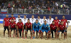FILE - Egypt Beach Soccer team