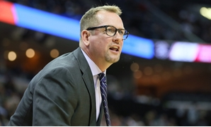 Nov 27, 2018; Memphis, TN, USA; Toronto Raptors head coach Nick Nurse reacts to a call in the first half of the game against the Memphis Grizzlies at FedExForum. Mandatory Credit: Nelson Chenault-USA TODAY Sports