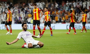 Soccer Football - Club World Cup - Quarter Final - Esperance Sportive de Tunis v Al Ain - Hazza bin Zayed Stadium, Al Ain, United Arab Emirates - December 15, 2018 Al-Ain's Hussein El Shahat celebrates scoring their second goal REUTERS/Andrew Boyers