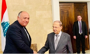 President Michel Aoun received Foreign Minister Sameh Shoukry on January 18, 2019 in Lebanon- Press photo