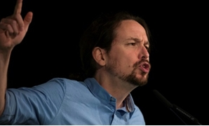 Spain's left-wing party Podemos leader Pablo Iglesias, seen at a November rally in Andalusia, saw his party suffer a drubbing there and there are signs he and fellow Podemos founder Inigo Errejon are drifting apart AFP/File