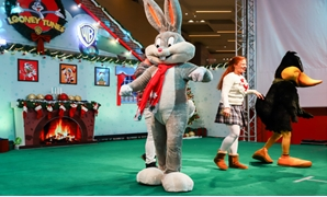 Part of the Looney Tunes Show performance in Mall of Arabia in Cairo, Egypt. January 2019. Press Photo