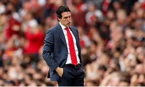 Soccer Football - Premier League - Arsenal v Manchester City - Emirates Stadium, London, Britain - August 12, 2018 Arsenal manager Unai Emery reacts Action Images via Reuters/John Sibley