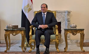 FILE - Egyptian President Abdel Fatah al-Sisi during his meeting with the U.S. Secretary of State Mike Pompeo in Cairo - Reuters