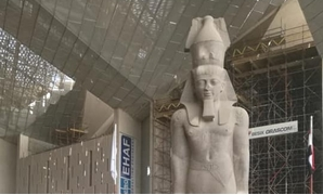 Ramses II appearing in the entrance of the GEM - Facebook