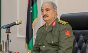 FILE - Commander-in-Chief of the National Libyan Army Khalifa Hafter