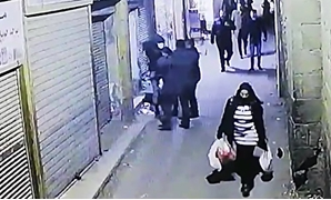 Al-Darb al-Ahmar suicide bomber appeared in video clip detonating explosives, killing 3 policemen - Screenshot of footage