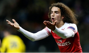 Borisov Arena, Barysaw, Belarus - February 14, 2019 Arsenal's Matteo Guendouzi reacts during the match REUTERS/Anton Vaganov