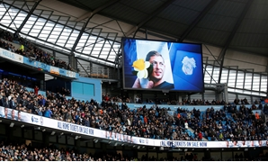 FILE PHOTO: Soccer Football - Premier League - Manchester City v Chelsea - Etihad Stadium, Manchester, Britain - February 10, 2019 General view of the big screen paying tribute to Emiliano Sala before the match Action Images via Reuters/Carl Recine EDITOR