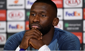 Soccer Football - Europa League - Chelsea Press Conference - Cobham Training Centre, Cobham, Britain - February 20, 2019 Chelsea's Antonio Rudiger during the press conference Action Images via Reuters/Tony O'Brien