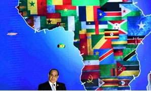 President Abdel Fatah al-Sisi delivering a speech at the launching of the first edition of the Arab and African Youth Platform held in Aswan.