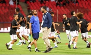 File- Mido during warm up against Al-Ahli, Al Wehda twitter account