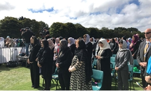 Egyptian Minster of Migration Nabila Makram has participated in the mass funeral for the victims of the deadly mass shootings at the two mosques in New Zealand- Press photo