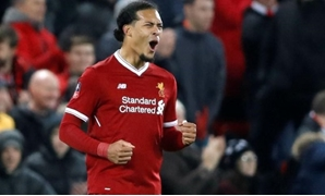 Soccer Football - FA Cup Third Round - Liverpool vs Everton - Anfield, Liverpool, Britain - January 5, 2018 Liverpool's Virgil van Dijk celebrates at the end of the match Action Images via Reuters/Carl Recine