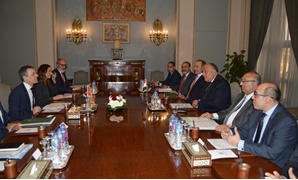 FILE - Egypt's Foreign Minister Sameh Shoukri said that he discussed with his Swiss counterpart a number of regional issues and the issue of illegal immigration – Press photo