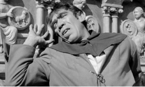 "American actor Anthony Quinn plays Quasimodo in the 1956 film version of ""The Hunchback of Notre Dame"" American actor Anthony Quinn plays Quasimodo in the 1956 film version of ""The Hunchback of Notre Dame"" -/AFP"