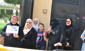 Egyptian women voting in the referendum on constitutional amendments in Saudi Arabia. April 19, 2019. Press Photo