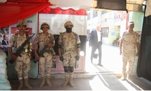 Security forces outside polling stations - Amr Mostafa/Egypt Today